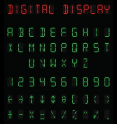 Digital alphabet vector