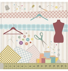 Sewing set vector