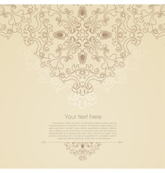 Oriental floral ornament background with place for vector