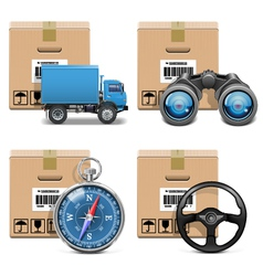 Shipment icons set 11 vector