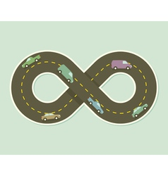 Paper road in shape of infinity vector