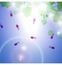 Medical pill capsules vector