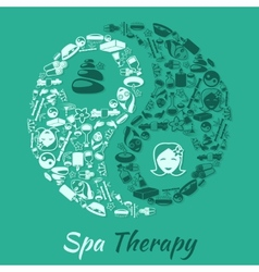 Spa therapy concept vector
