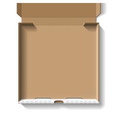 Open pizza box vector