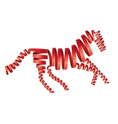 Abstract isolated red horse vector