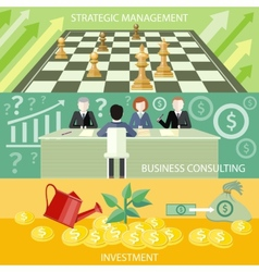 Strategic management business consulting vector