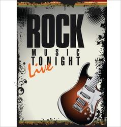 Rock concert background vector