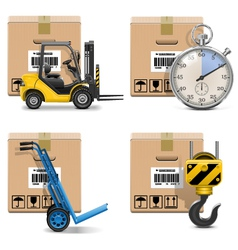 Shipment icons set 12 vector