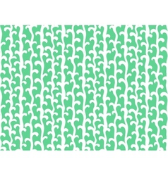 Pattern with vertical vines in aqua green color vector