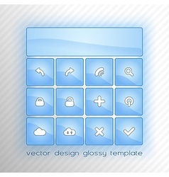 Design flat blue vector