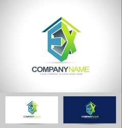 Ex company logo vector