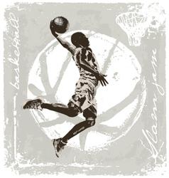 Slam jam basket ball vector
