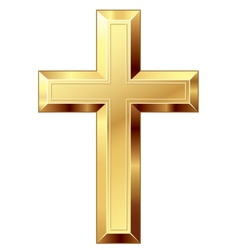 Gold cross vector