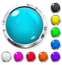 Set of multicolored buttons vector