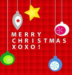 Christmas ornament card vector