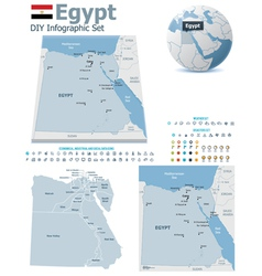 Egypt maps with markers vector