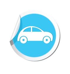 Car icon round blue vector