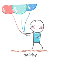 Holiday with balloons vector