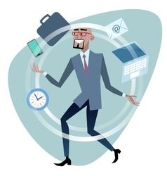African businessman time management concept vector
