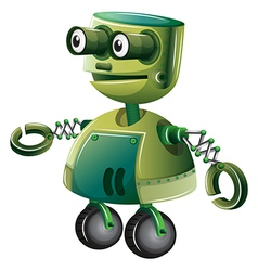 A green robot vector