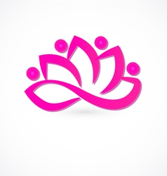Team lotus flower logo vector