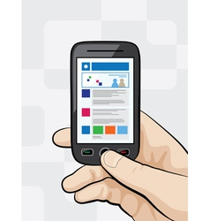 Smartphone with mobile website vector