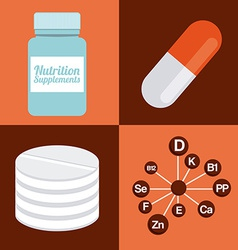 Nutrition supplements vector