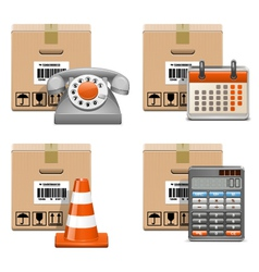 Shipment icons set 13 vector