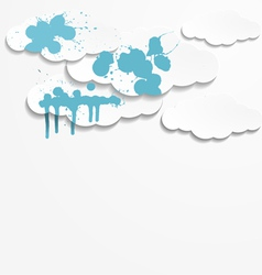 Abstract background with paper clouds vector