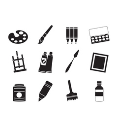 Drawing and painting icons vector