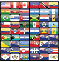Elements of design icons flags of the continent of vector