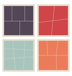 Collage frames set vector