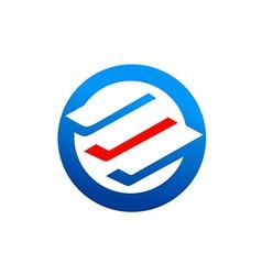 Circle icon business company logo vector