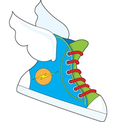 Flying sneaker vector