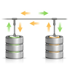 Database backup concept vector