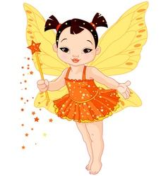 Cute asian baby fairy vector