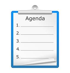 Agenda on clipboard vector