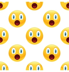 Surprised emoticon pattern vector