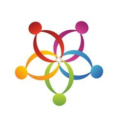 Teamwork support logo vector