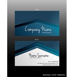 A blue coloured business card vector