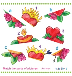 Match the parts of pictures vector