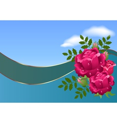 Roses and clouds vector