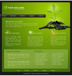 Web site for eco business vector
