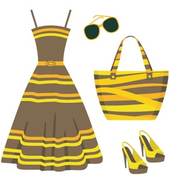 Summer set of clothes vector