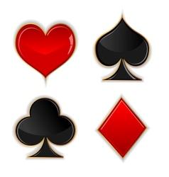 Poker glass button vector