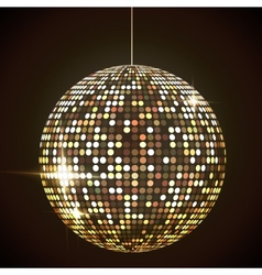 Mirror disco ball eps10 transparent objects and vector