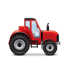 Tractor isolated vector