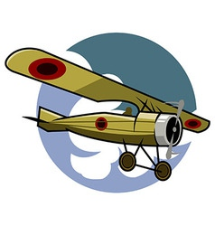 Classic airplane vector