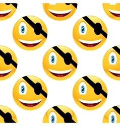 Pirate emoticon pattern vector