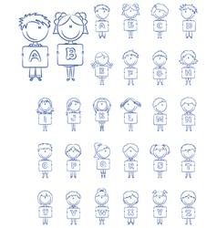 Kid alphabet letters vector